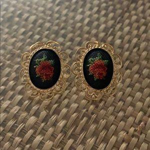 Vienna petite point earrings